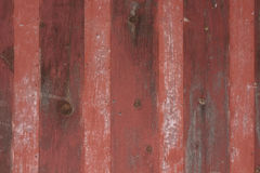 Fundo listrado vermelho do metal e da madeira do vintage Imagens de Stock