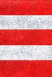 Fundo listrado vermelho e branco do gitter Foto de Stock
