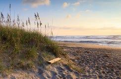 Fundo litoral Carolina Outer Banks norte fotografia de stock royalty free