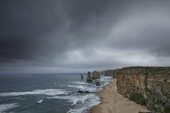 Fundo litoral da natureza do litoral do parque de doze apóstolos imagens de stock royalty free