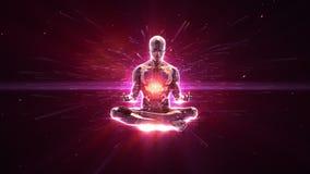 Fundo loopable da meditação ilustração royalty free