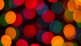 Fundo loopable das multi reflexões Defocused do bokeh da luz da cor 4K filme