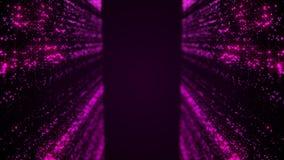 Fundo loopable de queda da poeira cor violeta Fotos de Stock