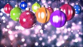 Fundo loopable do Natal com bolas agradáveis video estoque