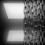 Fundo lustrado do metal 3D rendido ilustração stock
