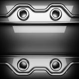Fundo lustrado do metal 3D rendido ilustração do vetor
