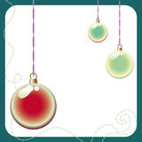 Fundo lustroso da esfera do Natal Fotos de Stock Royalty Free
