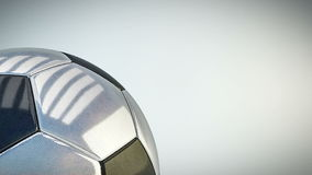 Fundo lustroso de giro da bola de futebol - dar laços sem emenda ilustração do vetor