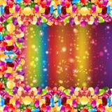 Fundo lustroso do arco-íris da cor dos doces ilustração do vetor