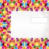 Fundo lustroso do círculo do arco-íris da cor dos doces ilustração royalty free