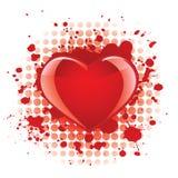 Fundo lustroso do coração ilustração stock