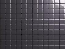 Fundo lustroso Escuro-cinzento da textura do metal da telha foto de stock