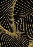 Fundo luxuoso com confetes dourados brilhantes ilustração do vetor