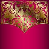 Fundo luxuoso com ornamento do ouro. Fotos de Stock