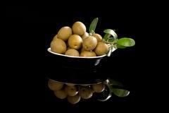 Fundo luxuoso da azeitona verde. Fotografia de Stock Royalty Free