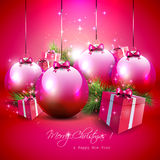 Fundo luxuoso do Natal ilustração royalty free