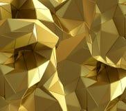 Fundo luxuoso do triângulo do sumário do ouro ilustração royalty free