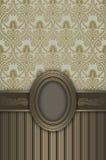 Fundo luxuoso do vintage com quadro decorativo Fotos de Stock Royalty Free