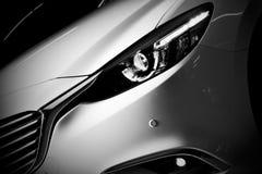 Fundo luxuoso moderno do close-up do carro Foto de Stock Royalty Free