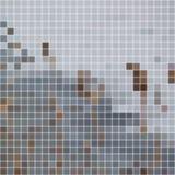 fundo Luz-cinzento e escuro-cinzento do mosaico Foto de Stock