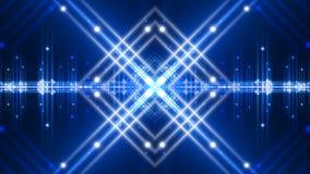 Fundo, luz de piscamento e formas abstratos azuis do movimento, laço ilustração stock