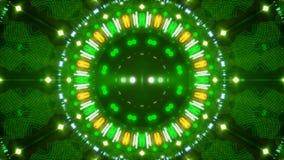 Fundo, luz de piscamento e formas abstratos verdes do movimento, laço ilustração royalty free