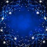 Fundo mágico brilhante Energia do movimento e da beleza Ilustração abstrata em cores azuis brilhantes Imagens de Stock