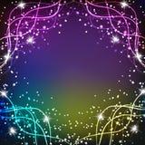 Fundo mágico brilhante Energia do movimento e da beleza Ilustração abstrata em cores brilhantes Fotografia de Stock