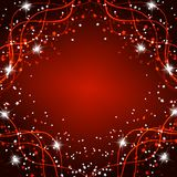 Fundo mágico brilhante Energia do movimento e da beleza Ilustração abstrata em cores vermelhas brilhantes Imagens de Stock