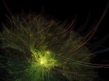 Fundo mágico da apresentação fantástica de superfície colorida futurista digital abstrata da bandeira da fantasia do fractal, con imagem de stock royalty free
