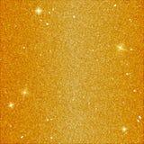 Fundo mágico do brilho na cor amarela Contexto dourado do vetor com lantejoulas e elementos do brilho ilustração royalty free