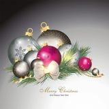 Fundo mágico do Natal Fotos de Stock Royalty Free