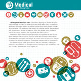 Fundo médico Fotos de Stock