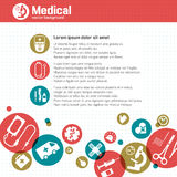 Fundo médico Fotos de Stock Royalty Free