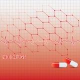 Fundo médico da anti droga. Imagem de Stock