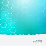 Fundo médico da tecnologia abstrata das moléculas da química Foto de Stock