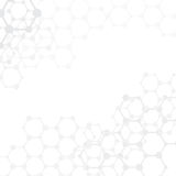 Fundo médico das moléculas abstratas com espaço da cópia () Imagem de Stock