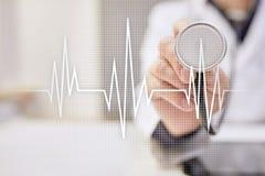Fundo médico do conceito do pulso Medicina e cuidados médicos imagem de stock royalty free