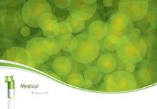 Fundo médico verde Imagens de Stock Royalty Free
