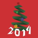 Fundo mínimo do origâmi do ano novo feliz Fotografia de Stock Royalty Free