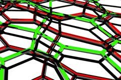 Fundo mínimo para render formas abstratas orgânicas dos hexágonos 3d ilustração royalty free