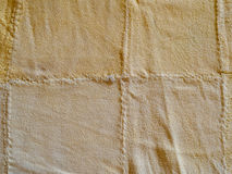 Fundo macio amarelo abstrato da textura da cabra-montesa do leathe Fotografia de Stock
