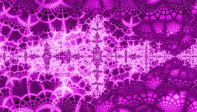 Fundo macio dos christmass da violeta e da alfazema com flocos de neve ilustração do vetor