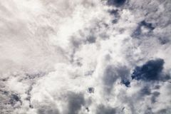 Fundo macio dramático abstrato das nuvens Imagem de Stock