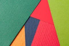 Fundo macro do projeto material, fim acima do papel textured, caixa pesada, cartão colorido Fotografia de Stock Royalty Free