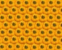 Fundo maduro amarelo da paprika Foto de Stock Royalty Free