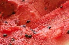 Fundo maduro vermelho do fruto da melancia Imagem de Stock