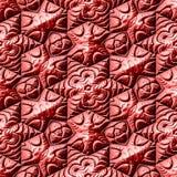 Fundo maia vermelho dos ornamento Fotografia de Stock Royalty Free