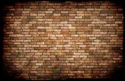 Fundo manchado resistido velho da parede de tijolo vermelho Imagens de Stock Royalty Free