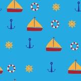 Fundo marinho sem emenda Fotografia de Stock Royalty Free